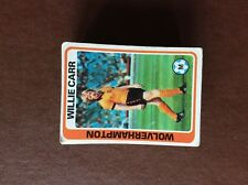 m17d5 trade card topps 1979 blue back football no 5 willie carr