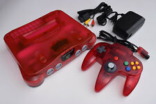 Watermelon Red Funtastic Color Nintendo 64 N64 Console Video Game System
