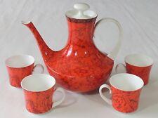 Block Spain Bidasoa Espana Flamenco Demitasse Espresso 4 Cups & Coffee Tea Pot