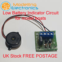 Low Battery Indicator Circuit for model boats and various hobbies
