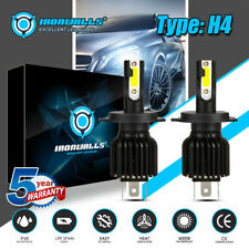 2x H4 9003 HS1 HB2 LED Headlight Bulb Hi-Lo Beam 2200W Motorcycle Lamp 330000lm