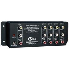 Ce Labs Av 400 Prograde Composite A/v Distribution Amplifiers (4-output) (av400)