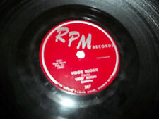 "VIDO MUSSO Vido's Boogie / Blue Night .. RPM label 78 rpm RECORD 10""  VG"