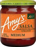 Amy's-Medium Salsa, Pack of 6 ( 14.7 oz jars )