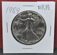 1989 Silver American Eagle BU 1 oz US $ 1 Dollar U.S Mint Brilliant Uncirculated