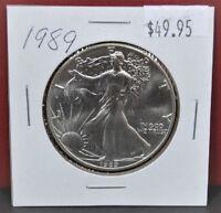 1989 Silver American Eagle BU 1 oz US $ 1 Dollar U.S Mint Brilliant Uncirculated