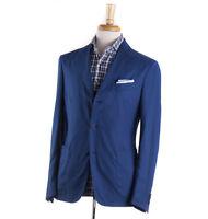 NWT $1450 BOGLIOLI Ocean Blue Lightweight Wool-Silk Sport Coat 38 R (Eu 48)