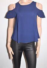 VALLEYGIRL Brand Navy Crepe Short Sleeve Blouse Top Size 8 BNWT #SU13