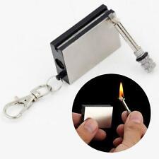 Permanent Metal Match Box Lighter Camping Keyring Novelty  Fashion
