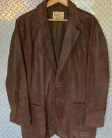 Mens CRIPPLE CREEK Leather Cowboy Collection Western Jacket / Blazer Sport Coat