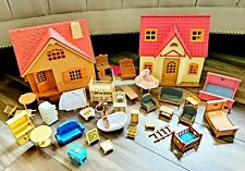 Vintage Lot Calico Critters Sylvanian Families House Cabin Furniture Accessories
