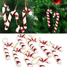 12pcs Xmas Tree Candy Crutch Hanging Ornament Christmas Baubles Decor 2.8'' #ke