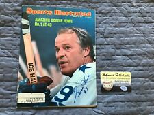 Gordie Howe Signed 1974 Sports Illustrated Full Magazine, Autographed, COA