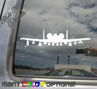 A10 Warthog Plane - Car Auto Window High Quality Vinyl Decal Sticker 10078