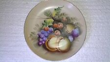 Vtg Lefton China Plate Hand Painted Harvest Fruit Wall Hanging 8 1/4""