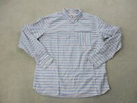 Brooks Brothers Button Up Shirt Adult Extra Large Blue Red Striped Casual Mens