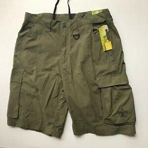 Boy Scouts BSA Men Adult Size M Centennial Uniform Cargo Short Nylon Green NWT