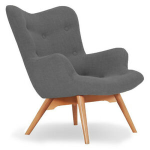 High Wing Back Angel Scandinavian Chair New Fabric Armchair Seat Living Room