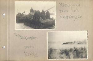 4 x  Fotos  Panther Panzer Richtschütze Kirowograd Feindpanzer