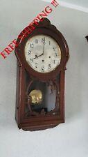 0298 - VERY  Rare Antique Berger & Würker  Westminster chime wall clock