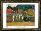 FRAMED Women And A White Horse by Paul Gauguin 24x32 Art Print Poster Famous ...
