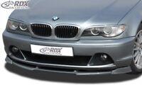 RDX Spoilerlippe für 3er BMW E46 Coupe Cabrio ab Bj. 2003 Front Ansatz Schwert