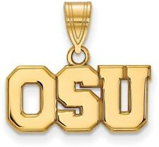 10K Yellow Gold Ohio State University Medium Pendant by LogoArt (1Y082OSU)