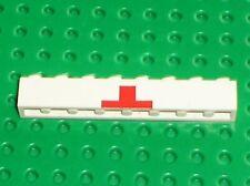 Brique croix rouge LEGO VINTAGE Brick 1x8 with red cross ref 3008p01 / 338 373