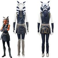 Star Wars Clone Wars Season 7 Cosplay Ahsoka Tano Costume Women Outfit Halloween