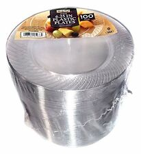 Quality Plastic Plates Clear100 Count Party Birthday Wedding Disposable Round  sc 1 st  eBay & Clear Disposable Plastic Party Plates | eBay