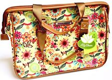 Lily Bloom Busy Bee Wire Framed Travel Tote Satchel Weekender New With Tags
