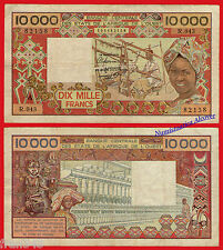 IVORY COAST WEST AFRICAN STATES 10000 Francs 1977-92 Pick 109Ah BC / F
