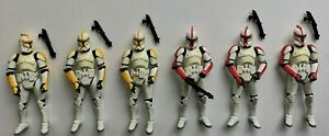 """Star Wars 3,75"""": Original Trilogy Collection: Clone Troopers (damage / ranks)"""