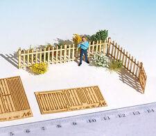 HO scale fence Kit 1/87 laser cut wood miniature model railway diorama dollhouse
