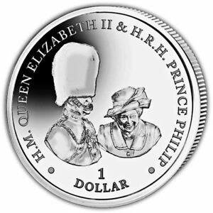 "British Virgin Islands 2017 Platinum Wedding ""Buckingham Palace"" Coin"