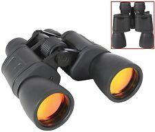 8-24 x 50 MM Deluxe Zoom Black Binoculars - Ruby Coat Lens - W/ Case & Neckstrap