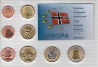 BJORNOYA NORWAY - PROBE PATTERN ESSAI 8 DIF SET 0.01 - 2 EURO 2013 YEAR
