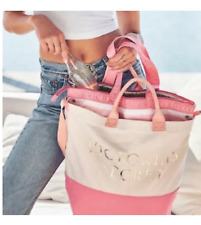 Victoria's Secret 2 in 1 Logo Cooler Tote Beach Bag NEW Limited 2018 $78 (W175)