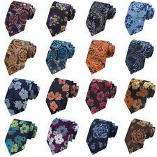 Men High Quality Necktie Floral Flower Pattern Tie Wedding Gentlemen Accessories