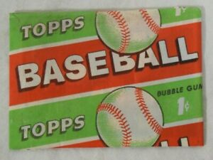 1955 Topps Baseball Complete Sealed 1 Cent Wax Pack BC3196