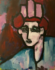 Parsons People.  Original Art.  Abstract Portrait. Canvas. Signed.   Acrylic.