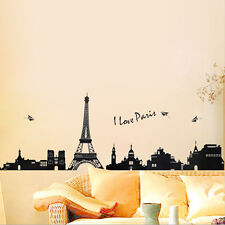 Paris City Eiffel Tower Wall Stickers Removable Vinyl DIY Decal Home Room Decor