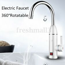 Electric Instant Hot Water Heater System Mixer Tap Basin Sink Cold&Hot Faucet