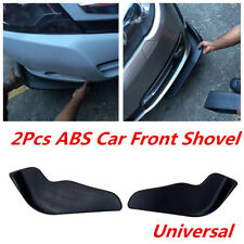 2Pcs ABS Black Front Shovel Scratch Resistant Anti-Collision Wing For Car Bumper