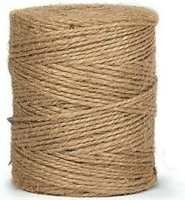 10m-900m 3 Ply Natural Brown Soft Jute Twine Sisal String Rustic Cord Shabby
