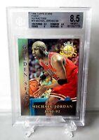 1996-97 Topps Stars Finest Michael Jordan Refractor Bgs 8.5 🔥📈 Gem Mint Pop 10
