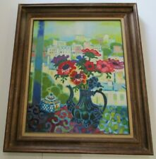 FINEST GUY CHARON PAINTING LARGE FRENCH FRANCE CITY STILL LIFE PARIS MODERNIST