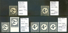 British Honduras 1956 to 72 run of postage dues mint & used (2020/02/01#07)