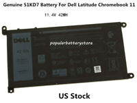 New Genuine 51KD7 Battery For Dell Latitude Chromebook 11 3180 3189 K5XWW J0PGR