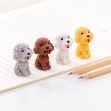 2pcs/set Cartoon Dog Eraser Student Stationery Drawing School Supplies For Kids
